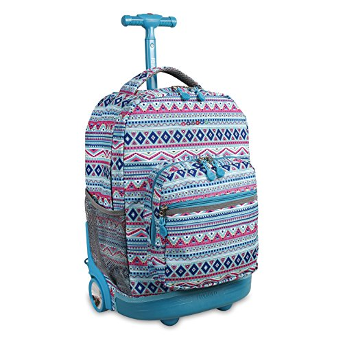 J World New York Sunrise Rolling Backpack Mochila tipo casual 18 centimeters 34.5 Multicolor (Mint Tribal)