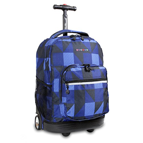 J World New York Sunrise Rolling Backpack Mochila tipo casual 18 centimeters 34.5 Multicolor (Block Navy)